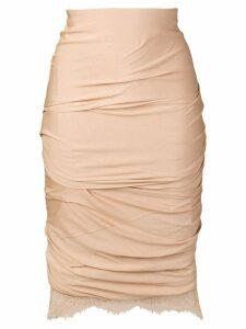 Tom Ford gathered pencil dress - Neutrals