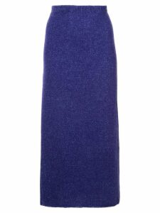 The Elder Statesman side slit midi skirt - Purple