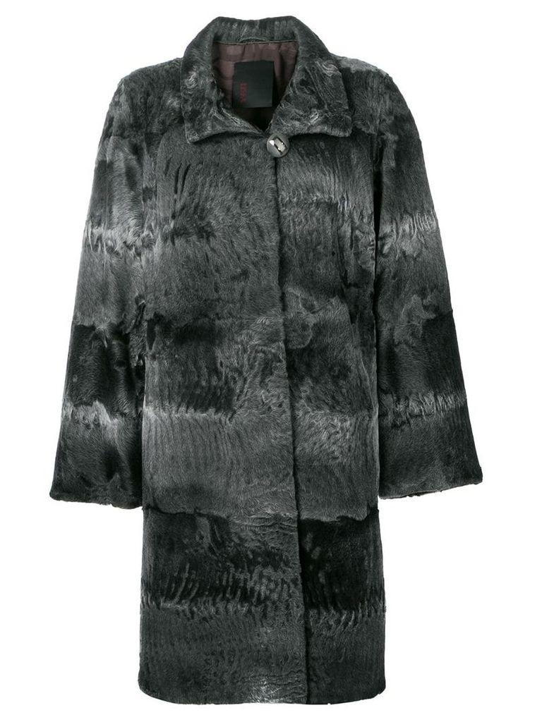 Liska Elysa midi fur coat - Grey