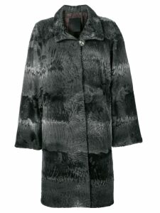 Liska Elysa midi fur coat - Grey