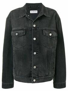 Balenciaga Strass Logo Jacket - Black