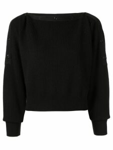 T By Alexander Wang snap button jumper - Black