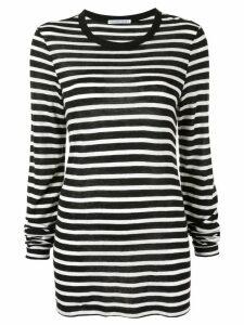T By Alexander Wang striped jersey T-shirt - Black