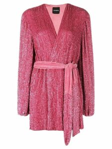 Retrofete embellished wrap mini dress - Pink