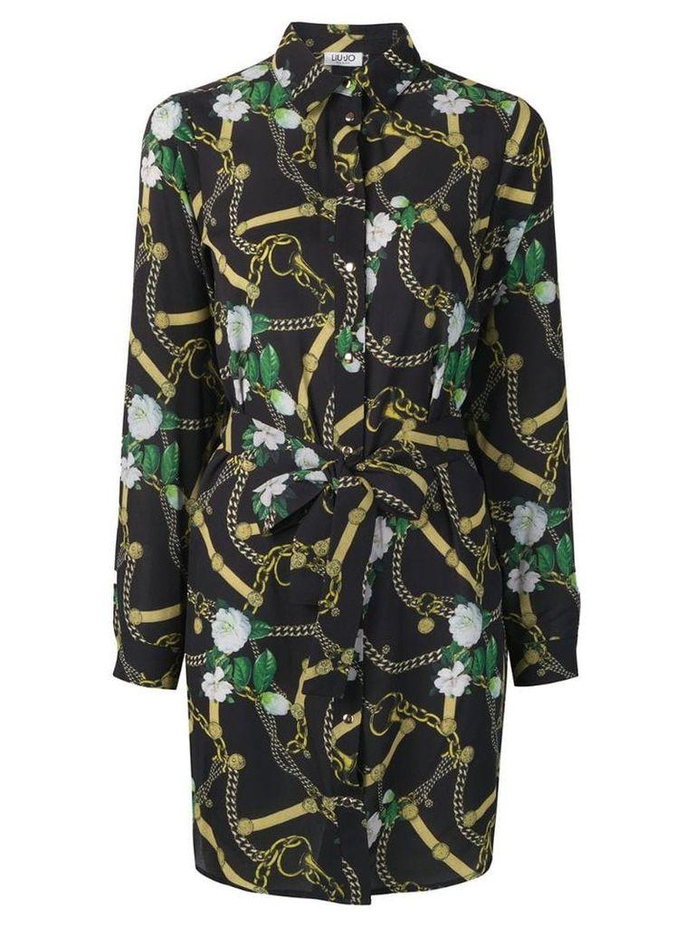 Liu Jo Belt & Chain print dress - Black