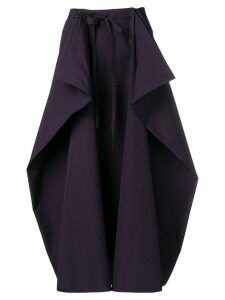 Lemaire draped pannel skirt - Purple