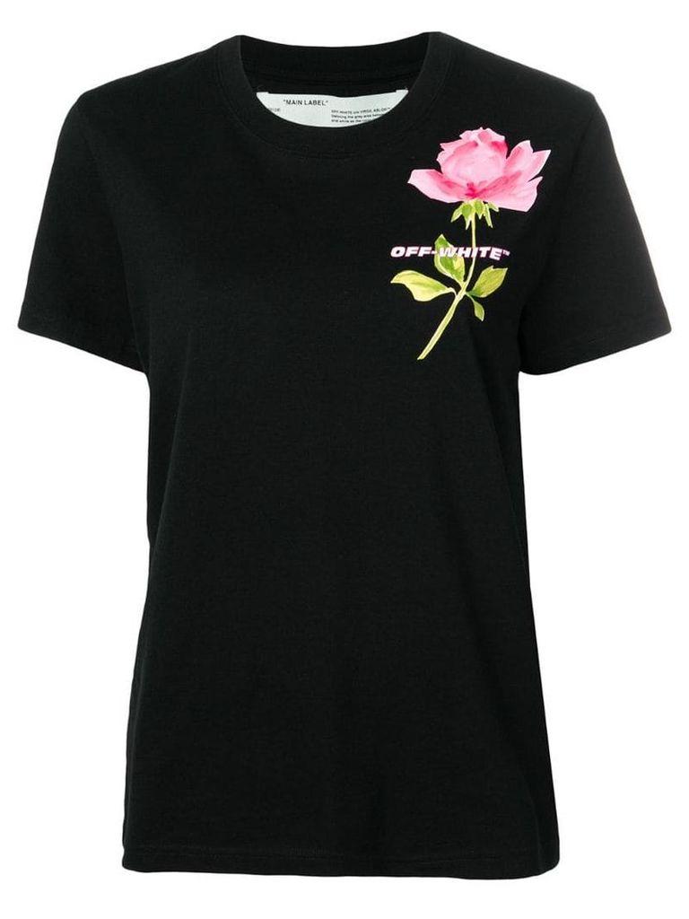 Off-White flower print T-shirt - Black
