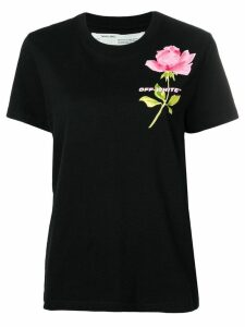 Off-White flower print T-shirt - Black