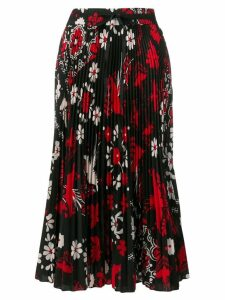 Red Valentino floral print skirt - Black