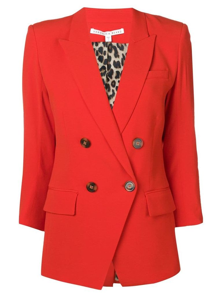 Veronica Beard fitted blazer - Red