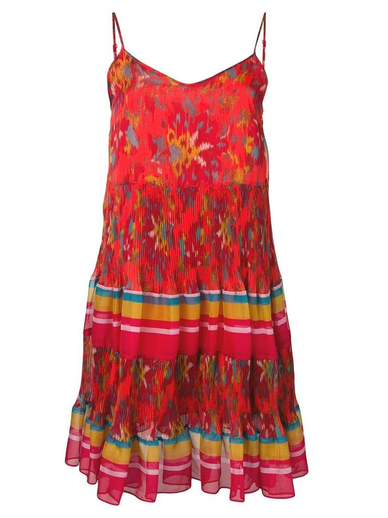 Twin-Set patterned dress - Red