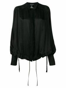 Ann Demeulemeester drawstring blouse - Black