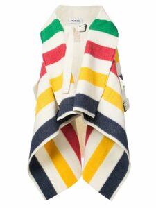 Monse striped waterfall coat - Multicolour
