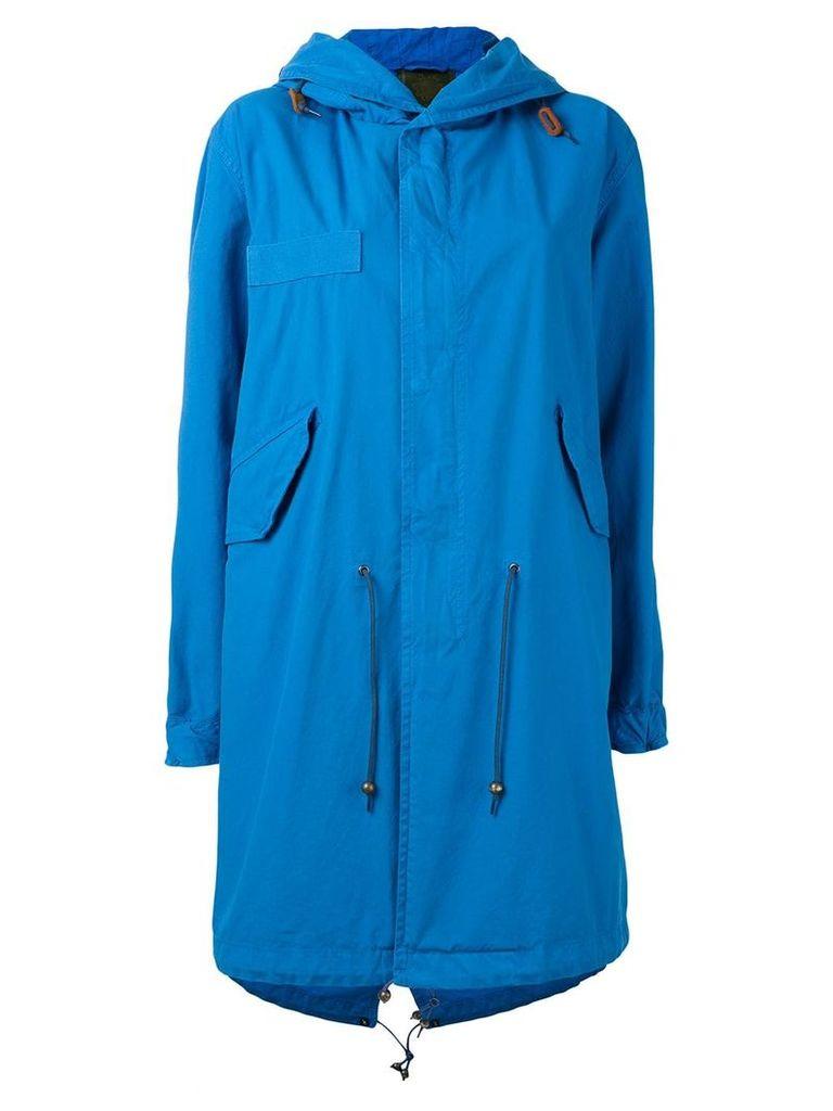 Mr & Mrs Italy hooded parka coat - Blue