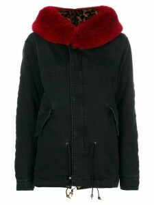 Mr & Mrs Italy trimmed hood short parka - Black