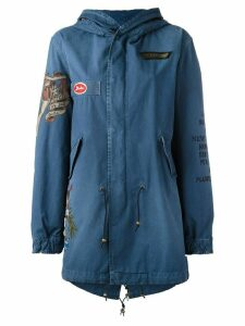 Mr & Mrs Italy printed arms hooded jacket - Blue