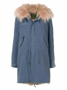 Mr & Mrs Italy faux fur trim parka - Blue