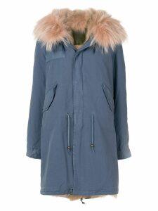 Mr & Mrs Italy faux fur trim parka - Blue