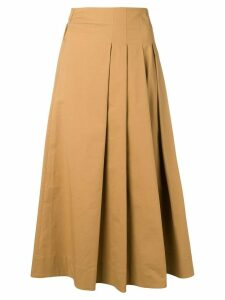 Quelle2 plain mid-length skirt - NEUTRALS