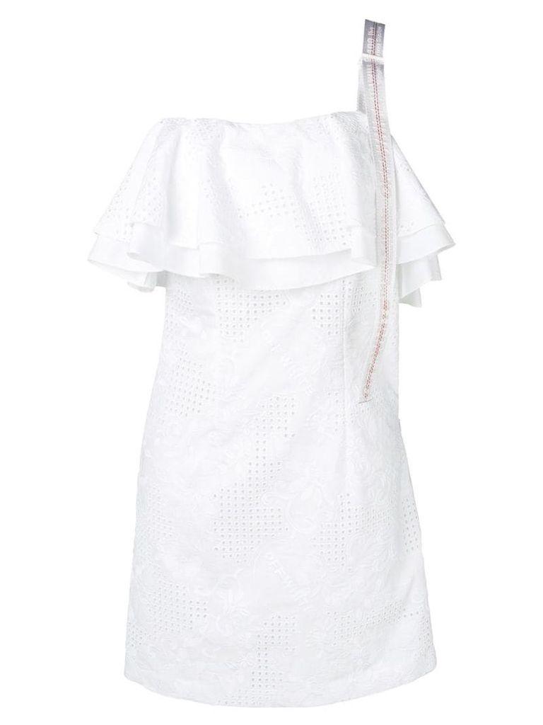 Off-White one-shoulder sangallo dress