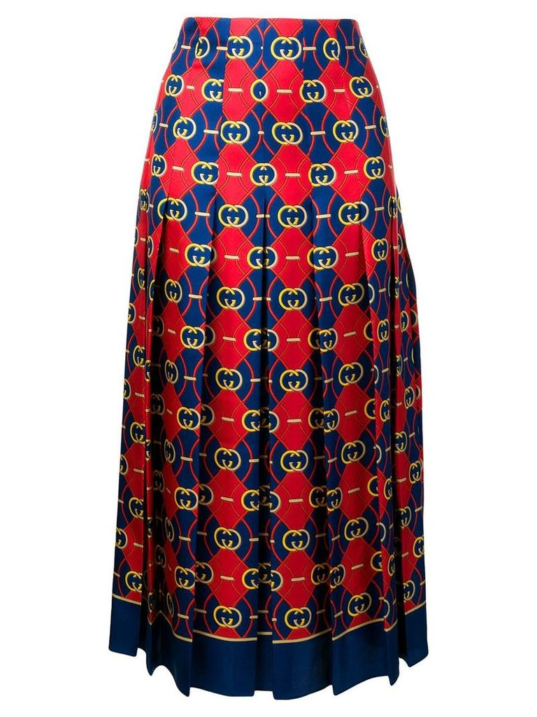 Gucci GG Waves pleated skirt - Red