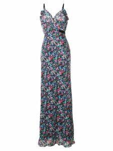 Saloni sleeveless floral maxi dress - Blue
