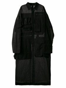 Yohji Yamamoto multi pocket shirt coat - Black