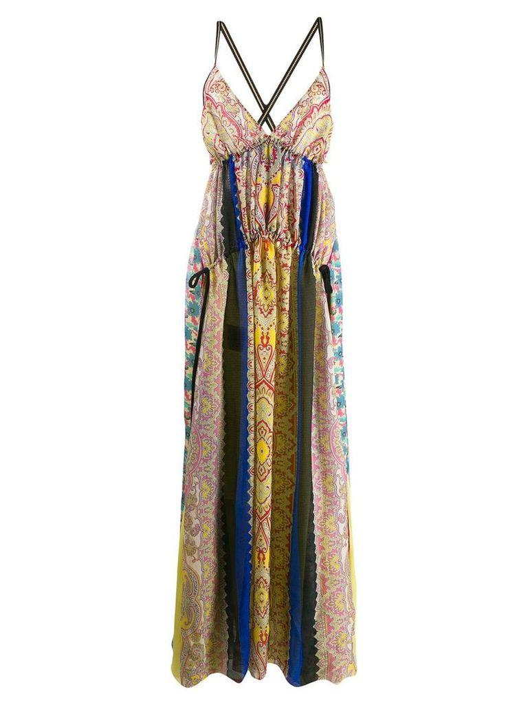 Etro patchwork dress - Yellow