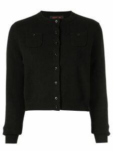 Caban classic slim-fit cardigan - Black