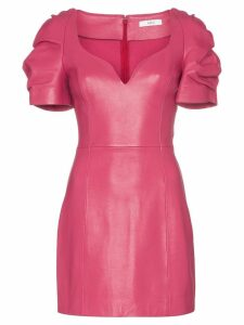 AREA ruched sleeve mini dress - Pink