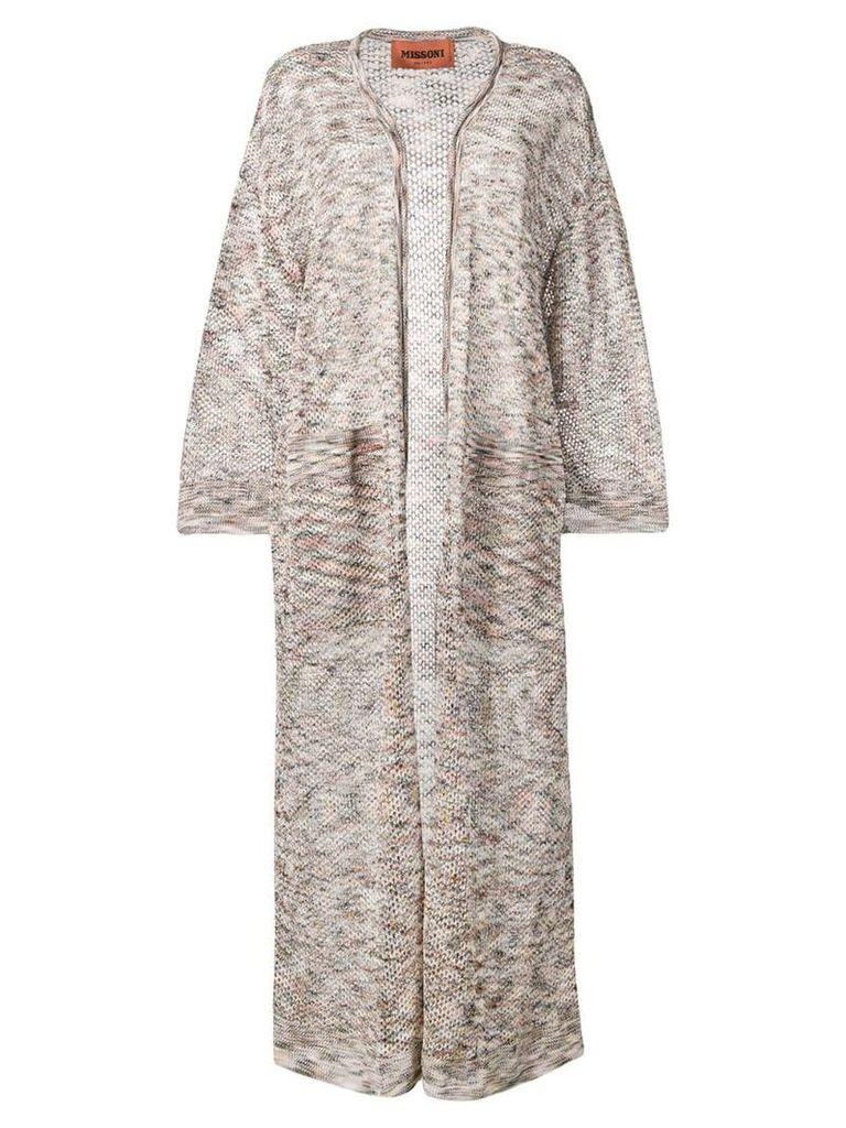 Missoni long fine knit cardigan - Neutrals