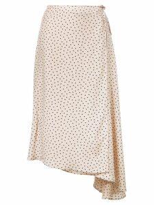 Áeron asymmetric wrap skirt - Neutrals