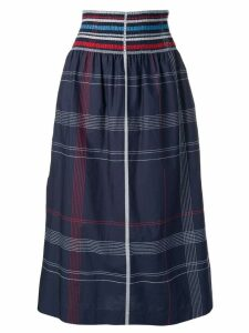 Sportmax checked midi skirt - Blue