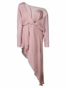 Michelle Mason polka dot asymmetric dress - Purple