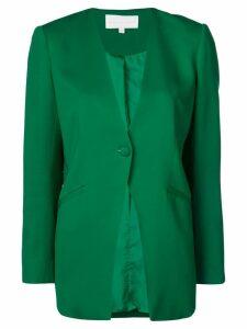 Michelle Mason collarless blazer - Green