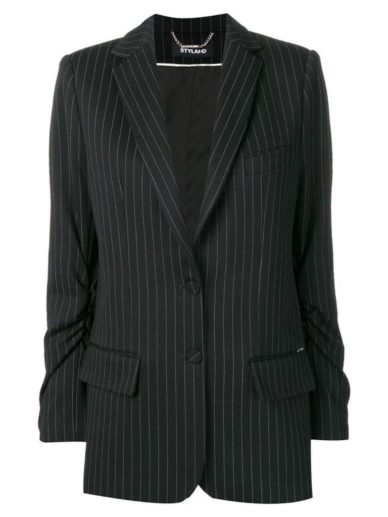 Styland striped blazer jacket - Black