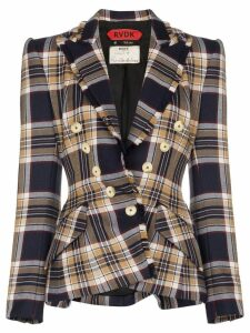Ronald Van Der Kemp checked blazer - Blue