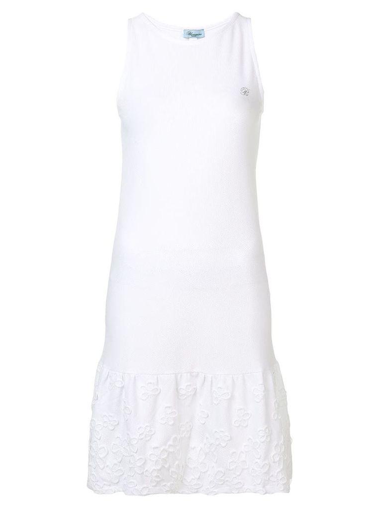 Blumarine flower appliqué dress - White