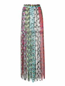Missoni Mare snakeskin print tassel skirt - Yellow