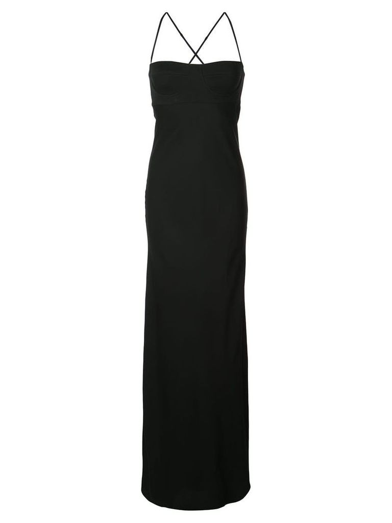 Michelle Mason long bustier dress - Black