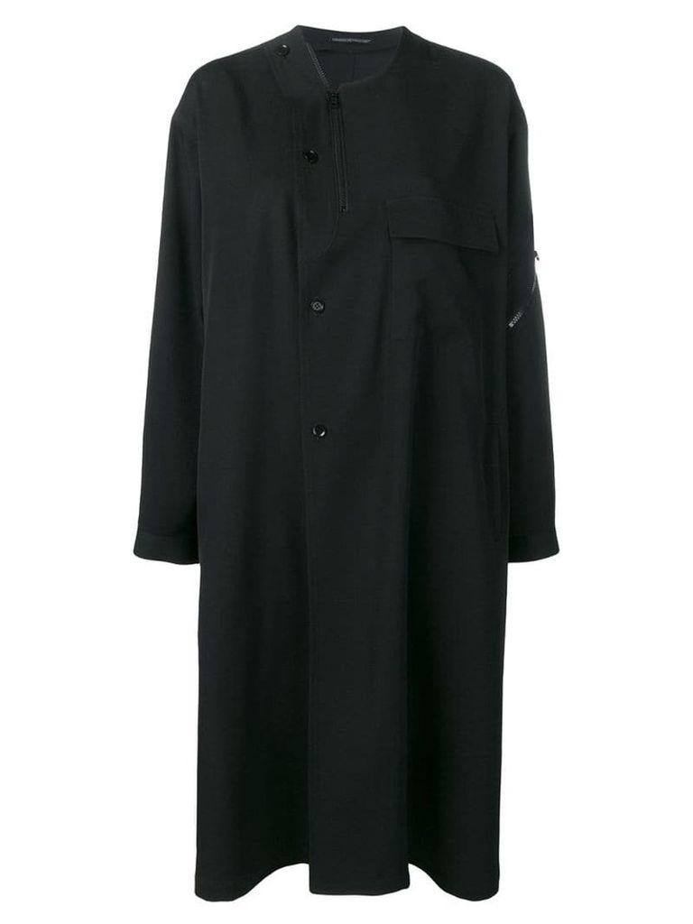 Yohji Yamamoto button-front coat - Black