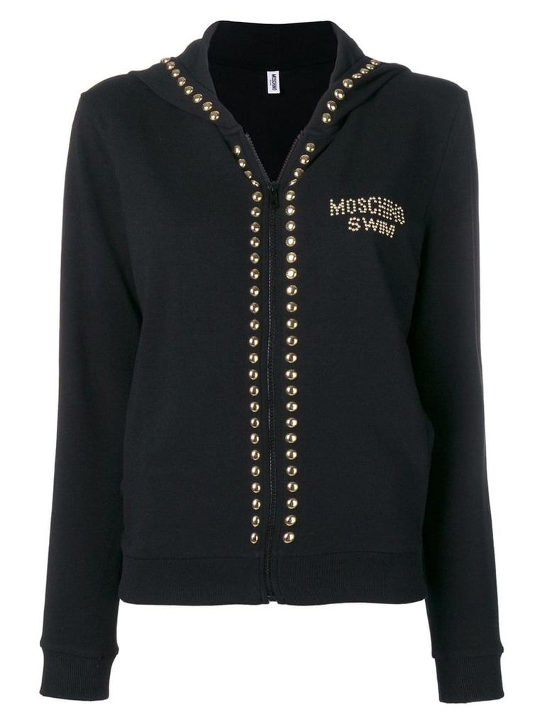 Moschino studded zipped hoodie - Black