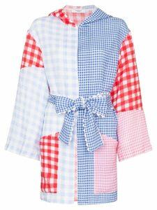 Marysia gingham patchwork print tunic jacket - Multicoloured