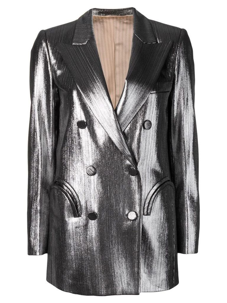 Blazé Milano double breasted blazer - Silver