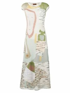 Missoni abstract print dress - White