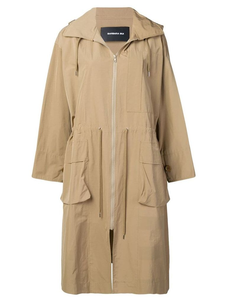 Barbara Bui zipped trench coat - Brown