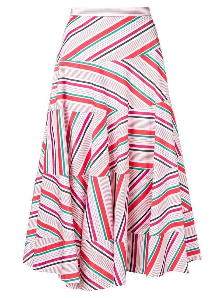 Isa Arfen striped midi skirt - White