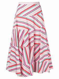 Isa Arfen striped midi skirt - White