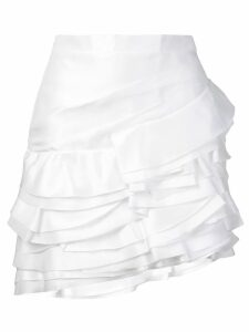 Ermanno Scervino layered ruffle skirt - White