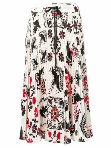 Red Valentino floral print skirt - White